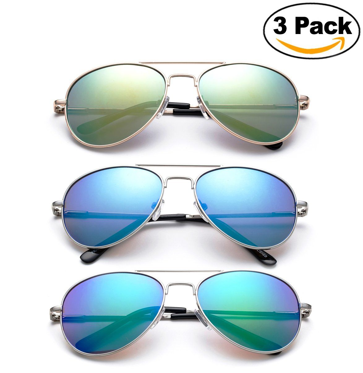 4caaecbb4c7be Newbee Fashion - Kyra Kids Aviator Flash Mirrored Lead Free Fashion  Sunglasses with Spring Hinges