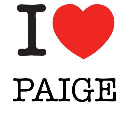 I Heart Paige #love #heart