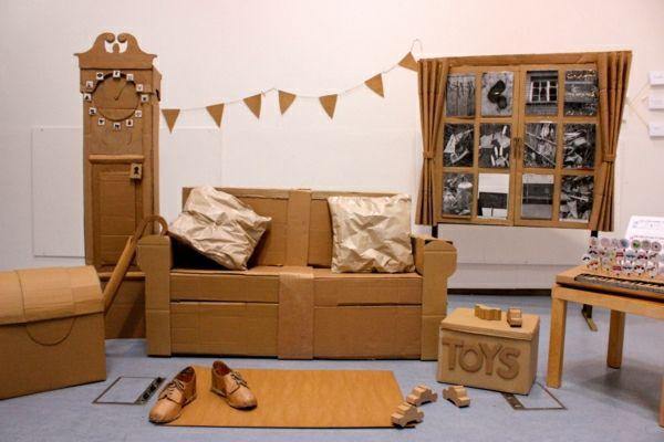 Die Möbel aus Pappe haben viele Vorteile gegenüber den ...