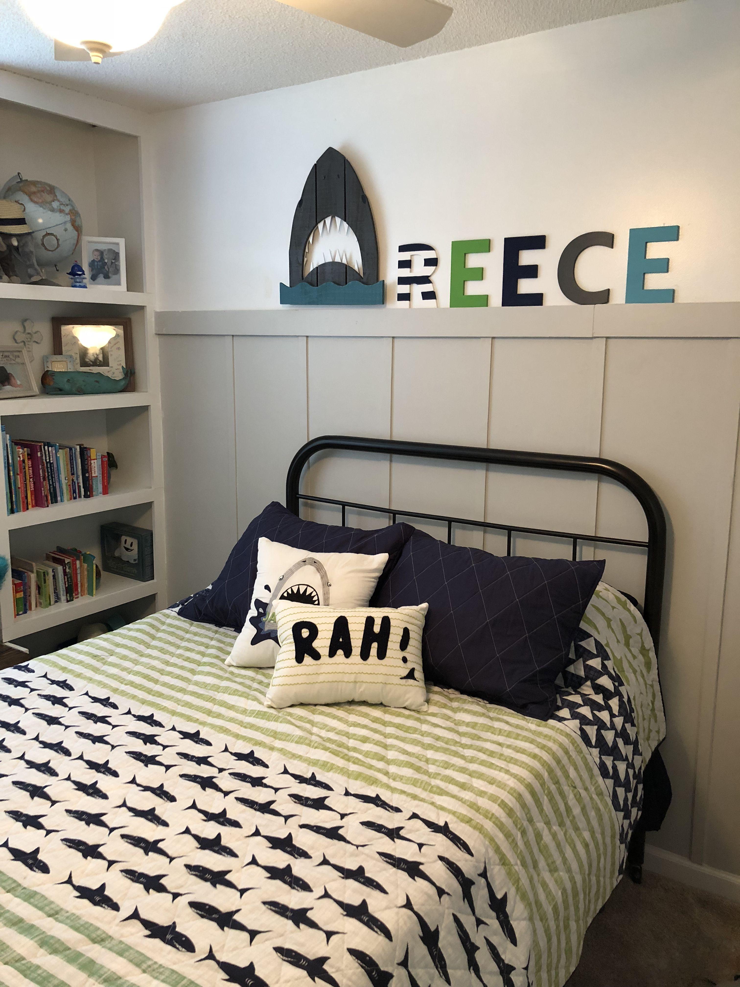 buy online 6f13b 1aa68 Reece's Big Boy Bedroom Toddler room, shark , builtins ...