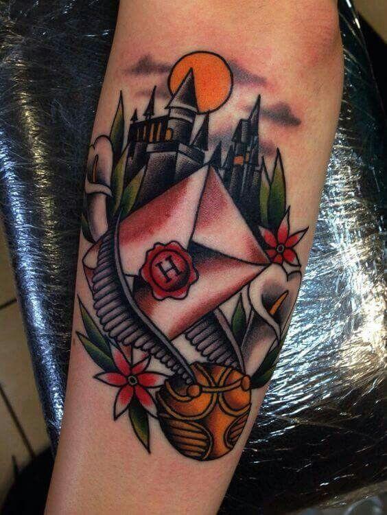 Harry Potter Tattoos For Men Nerdy Tattoos Body Art Tattoos Harry Potter Tattoos