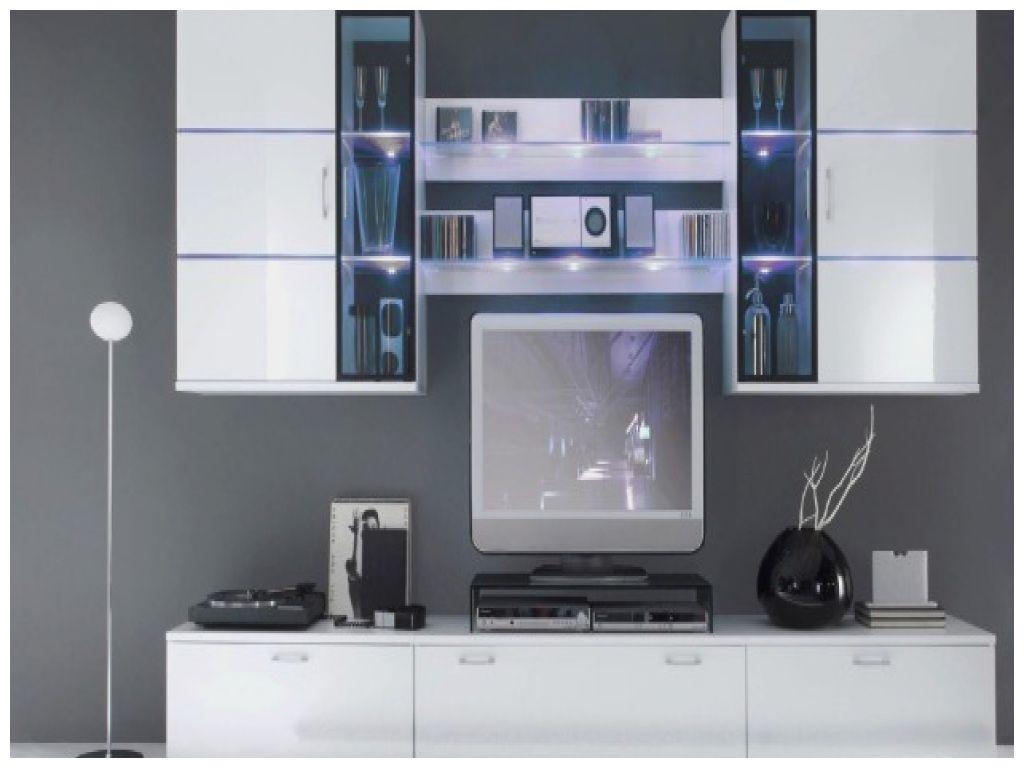 Nouveau Meuble Tv Design Blanc Laque Cavalli 210 Cm