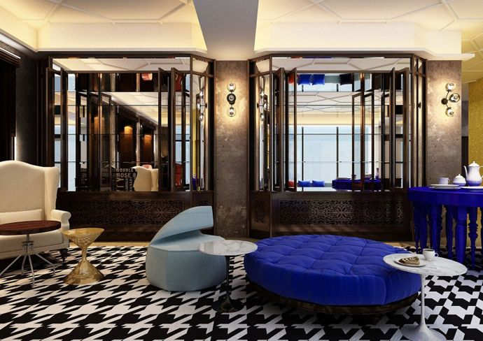 cozy and eclectic interior design qt sydney hotel by woodhead sydney australia