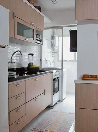 Cozinhas pequenas cozinhas pequenas com lavanderia - Armarios para lavadoras ...