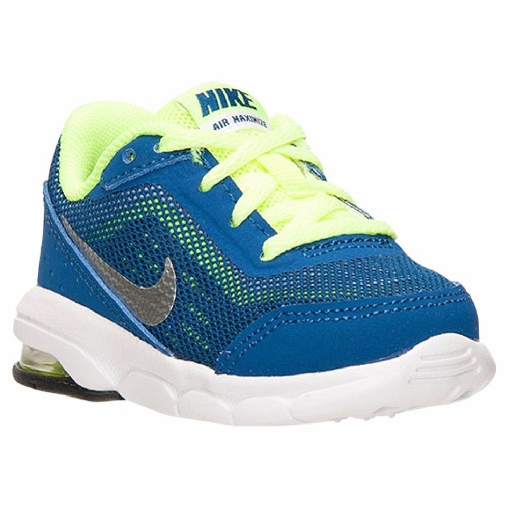 06d6c855926 Baby Boys Girls Shoes Nike AIR MAXIMIZE Toddler Size 4 Gym Blue Metallic  Silver  Nike  Athletic