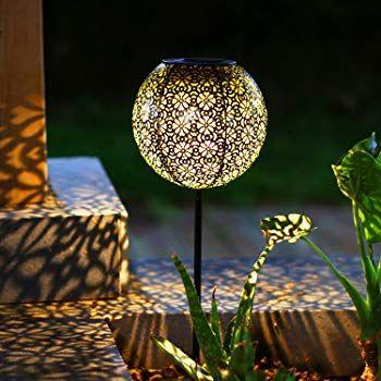 Solar Garden Lights Outdoor, 4 Pack Warm White Solar