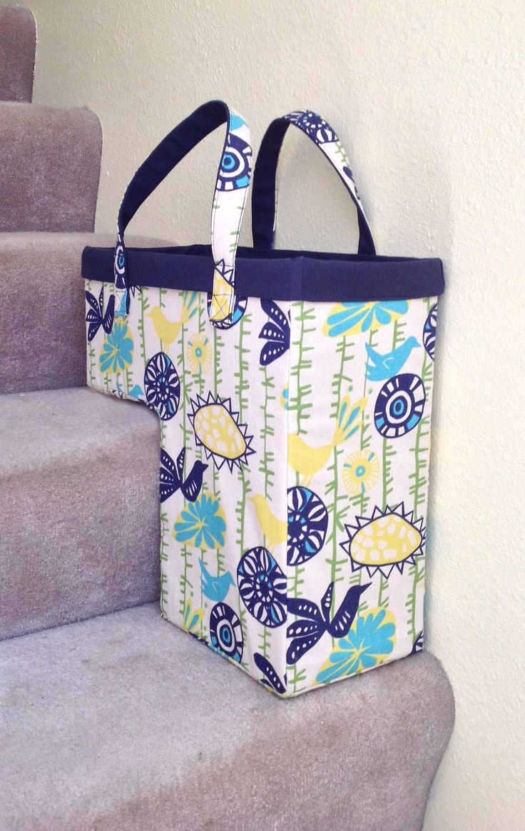 The One-Trip-Up the Stairs Basket - PDF Sewing Pattern | Nähen ...