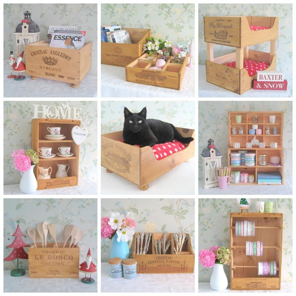 Wine Box Picture Montage Ribbon Holder Small Shelf Looks Good Wine Box Diy Wine Box Crafts Wooden Wine Crates