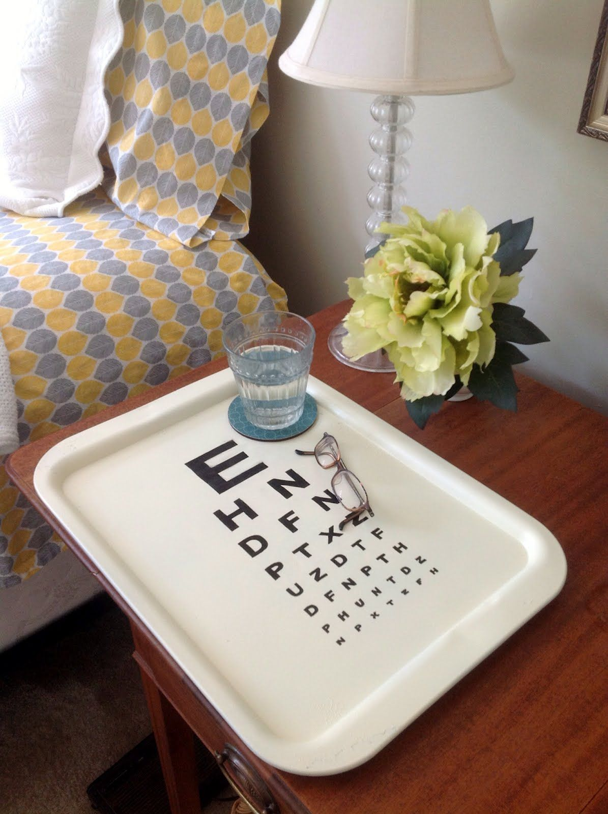 Z Gallerie Knock Off Eye Chart Tray Eye Chart Painted
