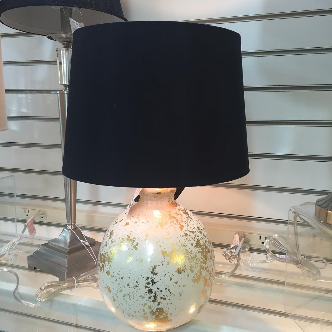 #tablelamp #homeaccent #homegoods #blackshade