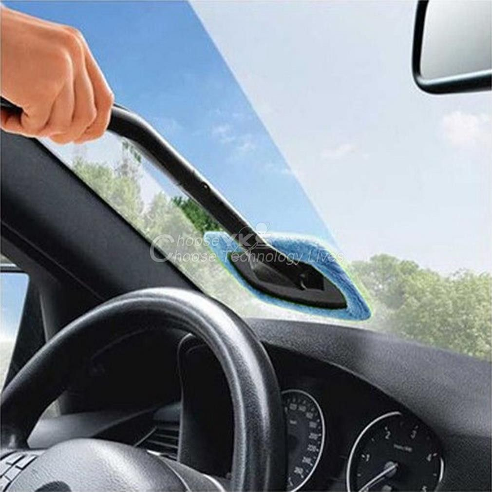 Car Wash Brush Microfiber Auto Window Cleaner Long Handle Dust Care Windshield Shine Towel Handy Washable Cleaning Tool