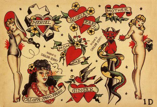 Sailor Jerry Tattoo Art Flash #12   13 x 19 Photo Print