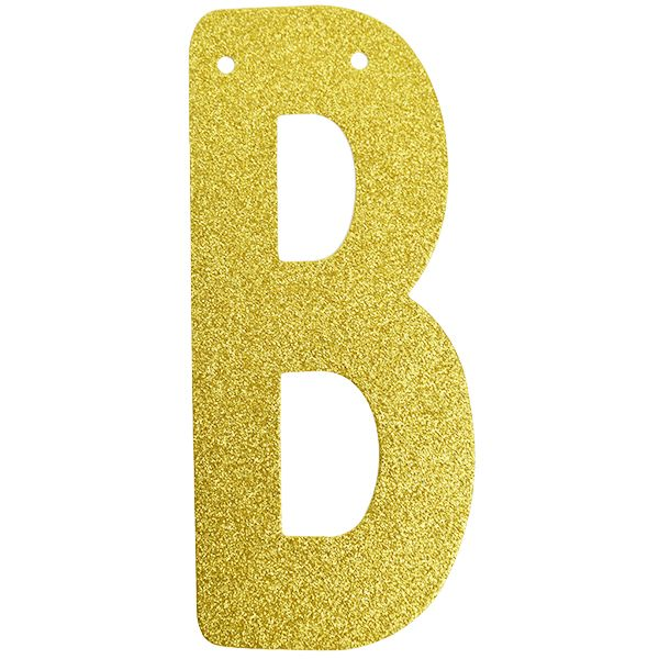 Glitter Letter Banner X2f Garland 6inch Gold Letter B Letter Garland Gold Glitter Paper Gold Paper