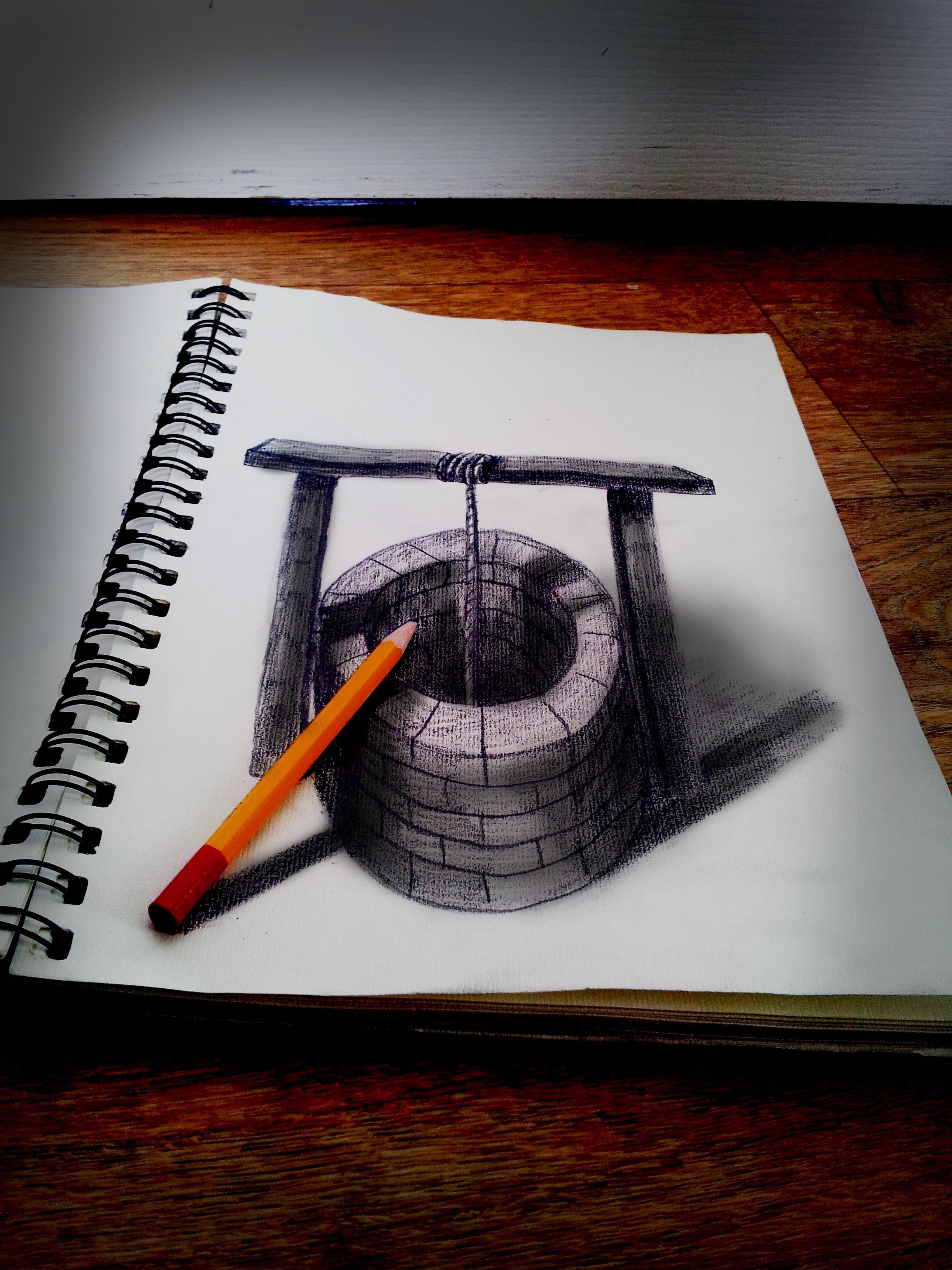Объемные нарисованные картинки
