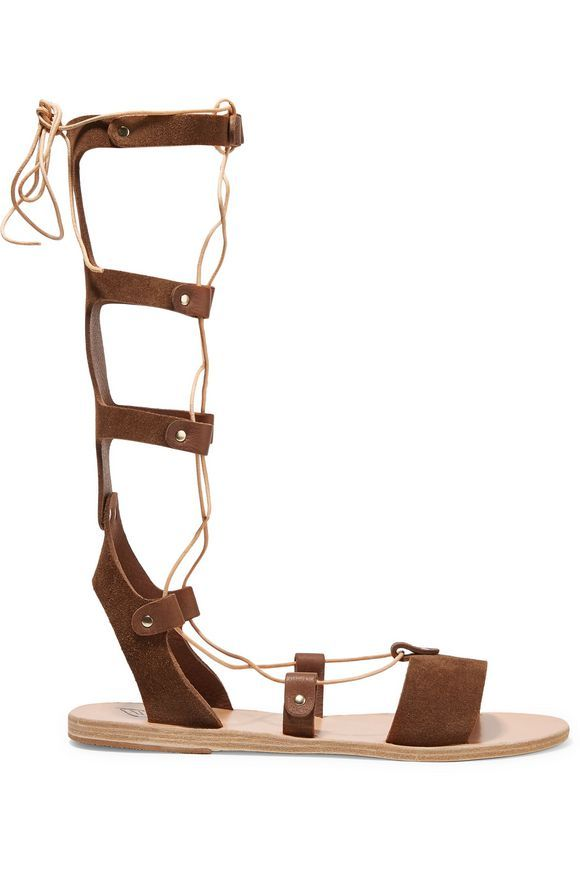 Thebes lace-up calf hair sandals | ANCIENT GREEK SANDALS | Sale up to 70