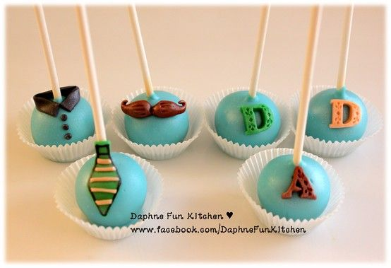 Father S Day Cake Pops Galletas Dia Del Padre Dia Del Padre