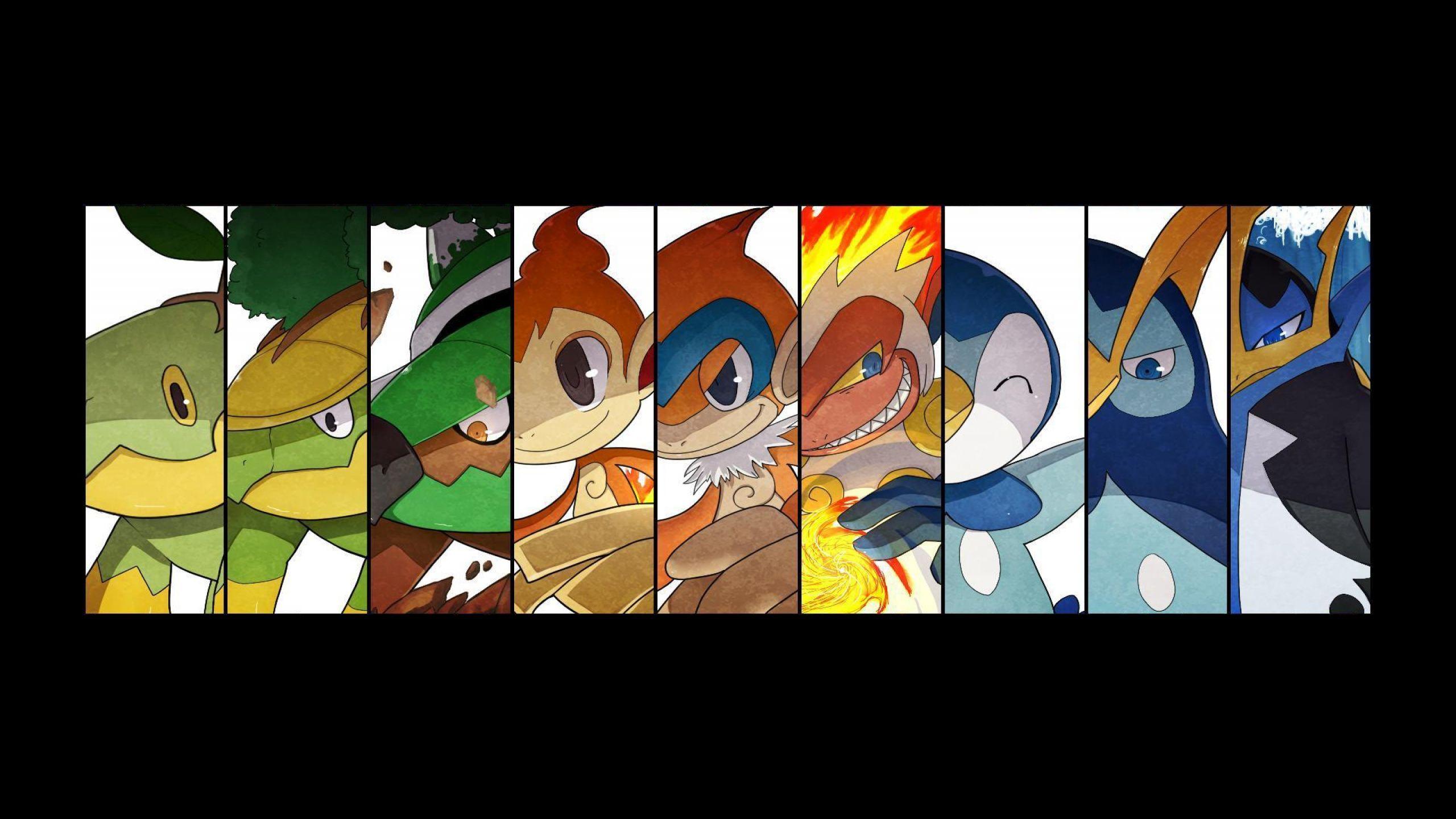 Chimchar 2560x1440 Pokemon Turtwig Grotle Torterra Chimchar