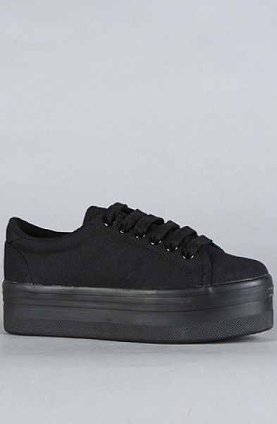 Jeffrey Campbell Black The Zomg Sneaker, I really want new black platform sneakers like these since the one I bought in Madrid died (ripped) after only a freaking month! (they were cheap maybe that's why) T ^ T