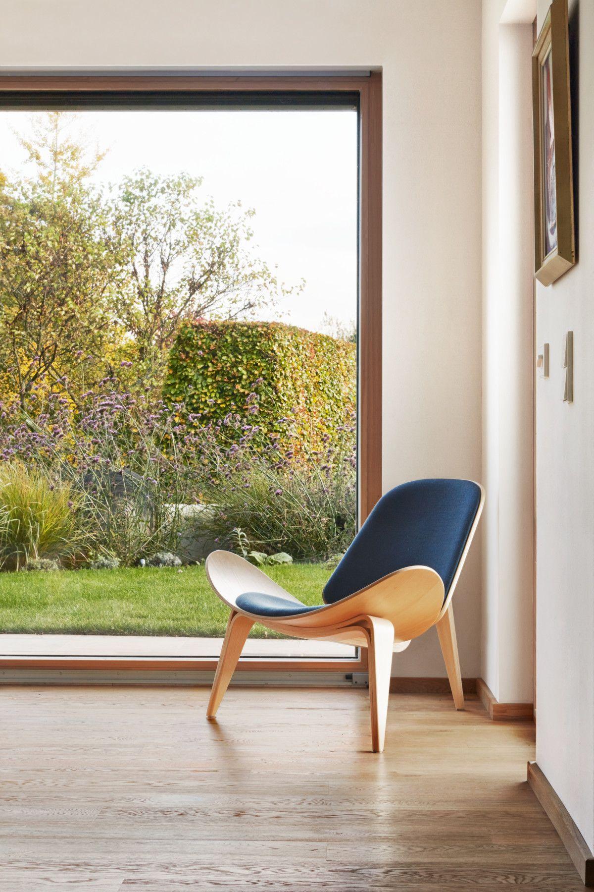 Modernes Wohnzimmer - Bungalow innen Haus Brandenburg ECO Massivhaus ...