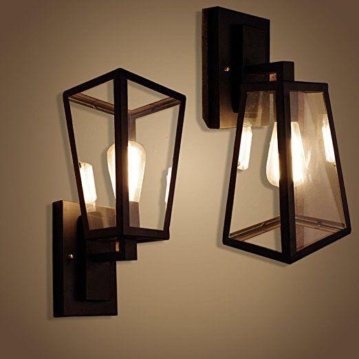 Weare home applique murale design lampe en verre dimensions 141735cm rétro industriel
