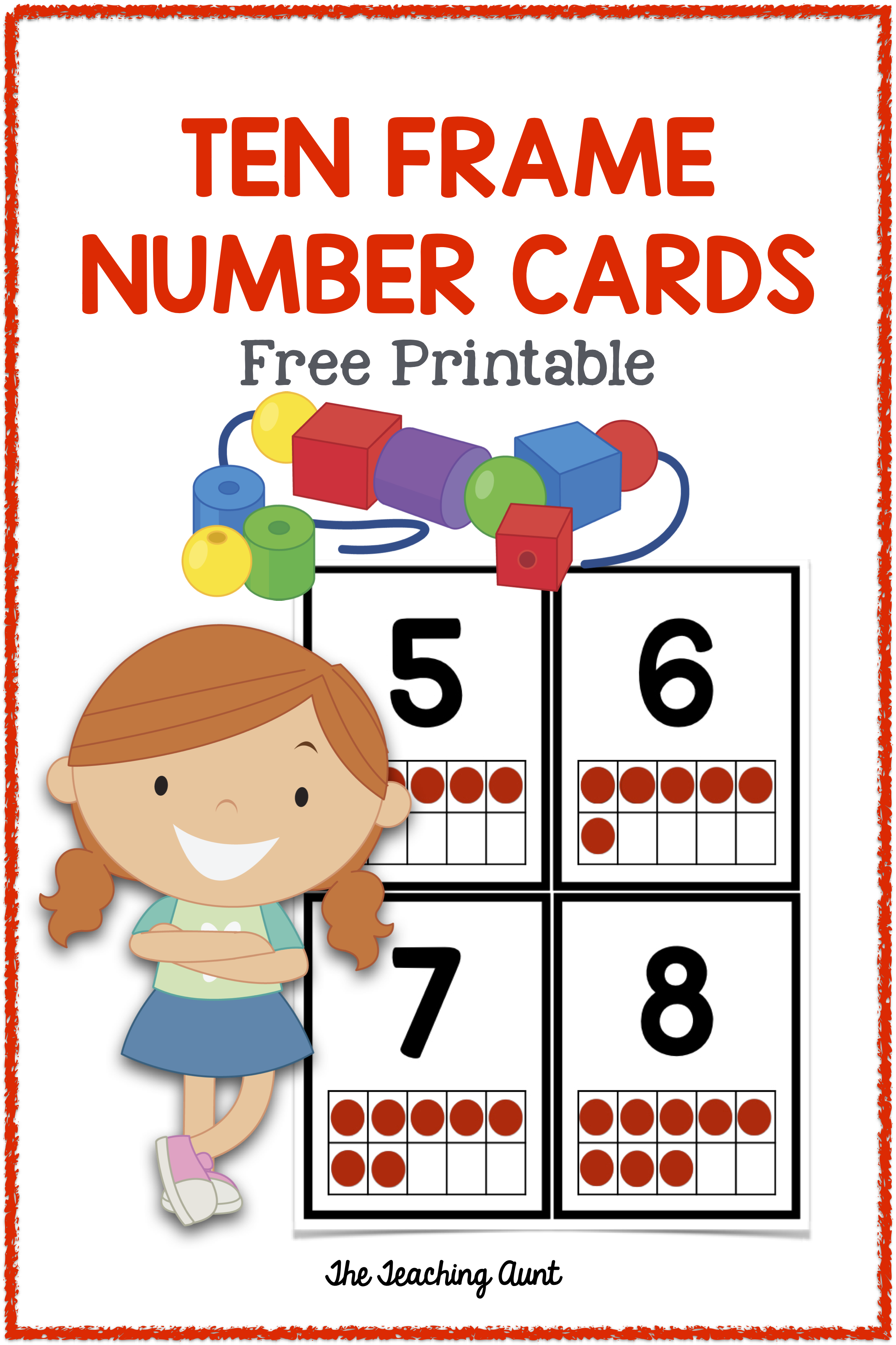 Numbers Flashcards Ten Frame With Images