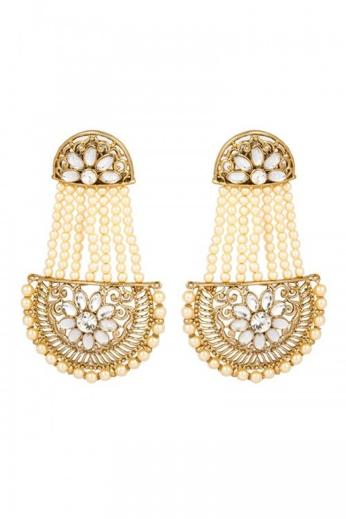 shop for party wear indian designer earrings online at lowest price at andaaz fashion http