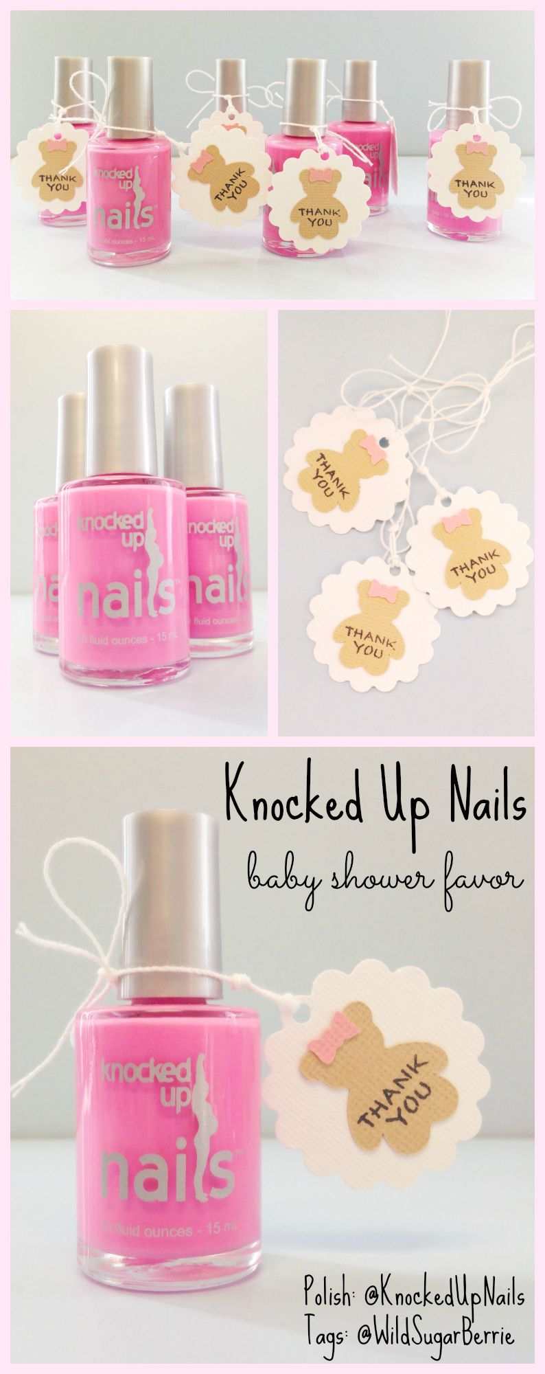 Unique Baby Shower Favors: Knocked Up Nails pregnancy-safe nail ...