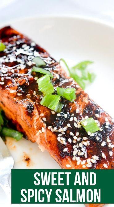 Sweet 'n' Spicy Sriracha-Glazed Salmon - Recipe Diaries