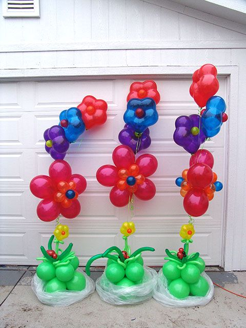 cmo hacer flores con globos para una fiesta arcos con globos decoracin de fiestas
