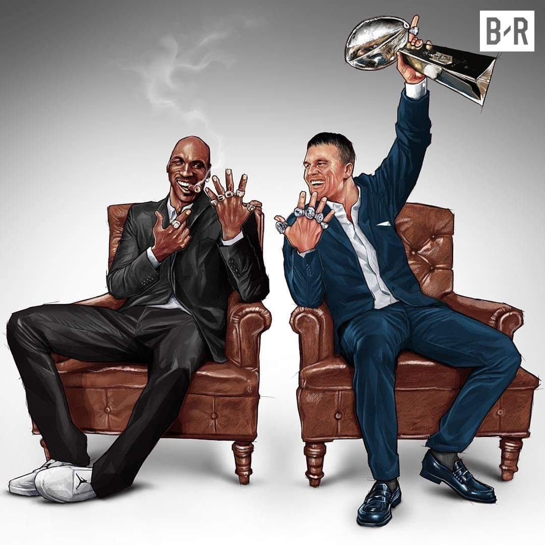 Tom Brady Michael Jordan 6 Rings Each Michael Jordan Nfl Futebol Americano