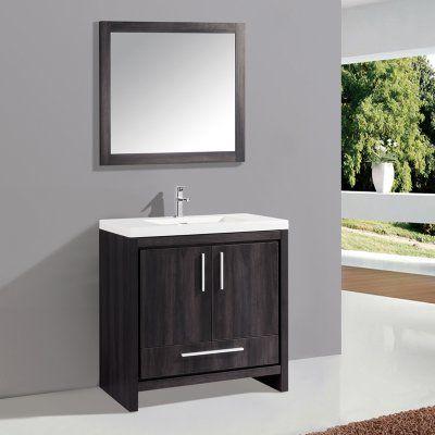 MTD Vanities Miami 36 in. Single Sink Bathroom Vanity Set - MTD-YBC306-36BW, MTDB025