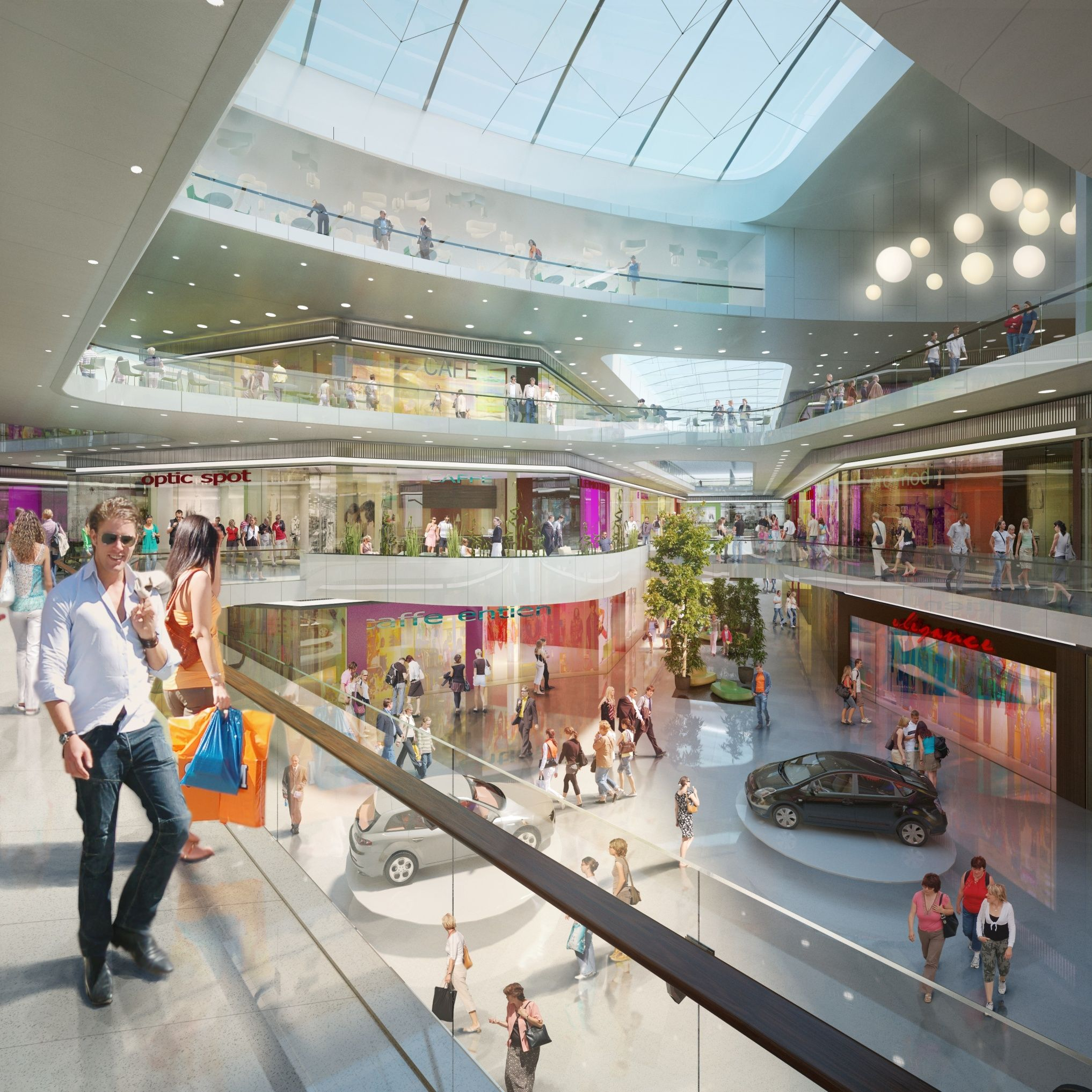 Aupark shopping mall study in Brno, Czech Republic - Fandament.Architects with Arch.Design