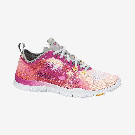 Cheap New Arrivals Nike Free 50 TR Fit 4 PRT 629832100 White Fusion PinkAtomic MangoBase Grey Nike Womens 2014