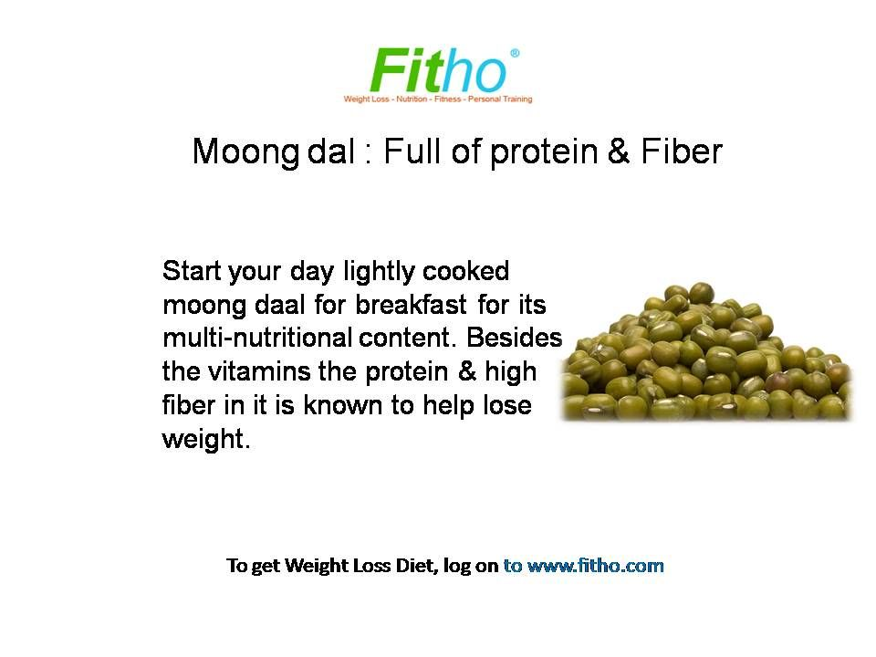 how to reduce weight by eating moong dal