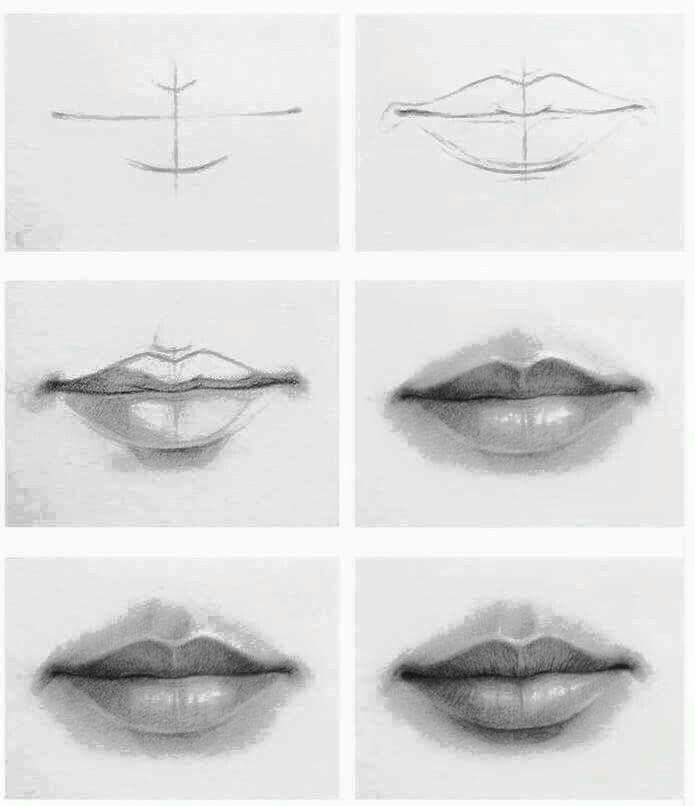Pin By Liz Maestres On Kunst Tekenen Lips Drawing Drawing People Realistic Drawings