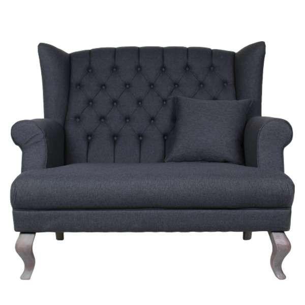 Landhaus Sofa Sessel JOLY Couch 2 Sitzer Einzelsofa Sofagarnitur Polstersofa