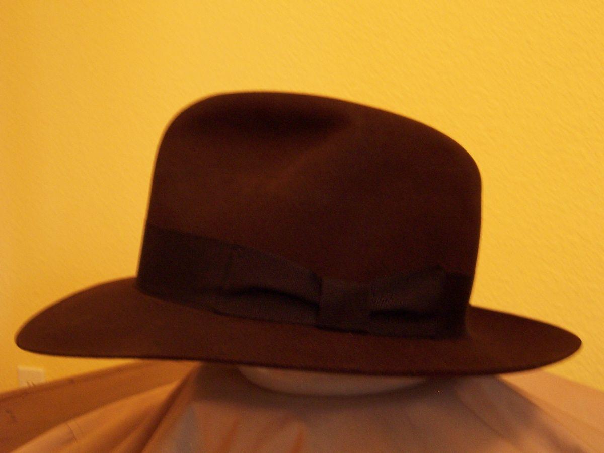 d7937215af52d Fedora Indiana Jones Hat by Steve Delk Adventurebuilt Hats for the IJIV  movie