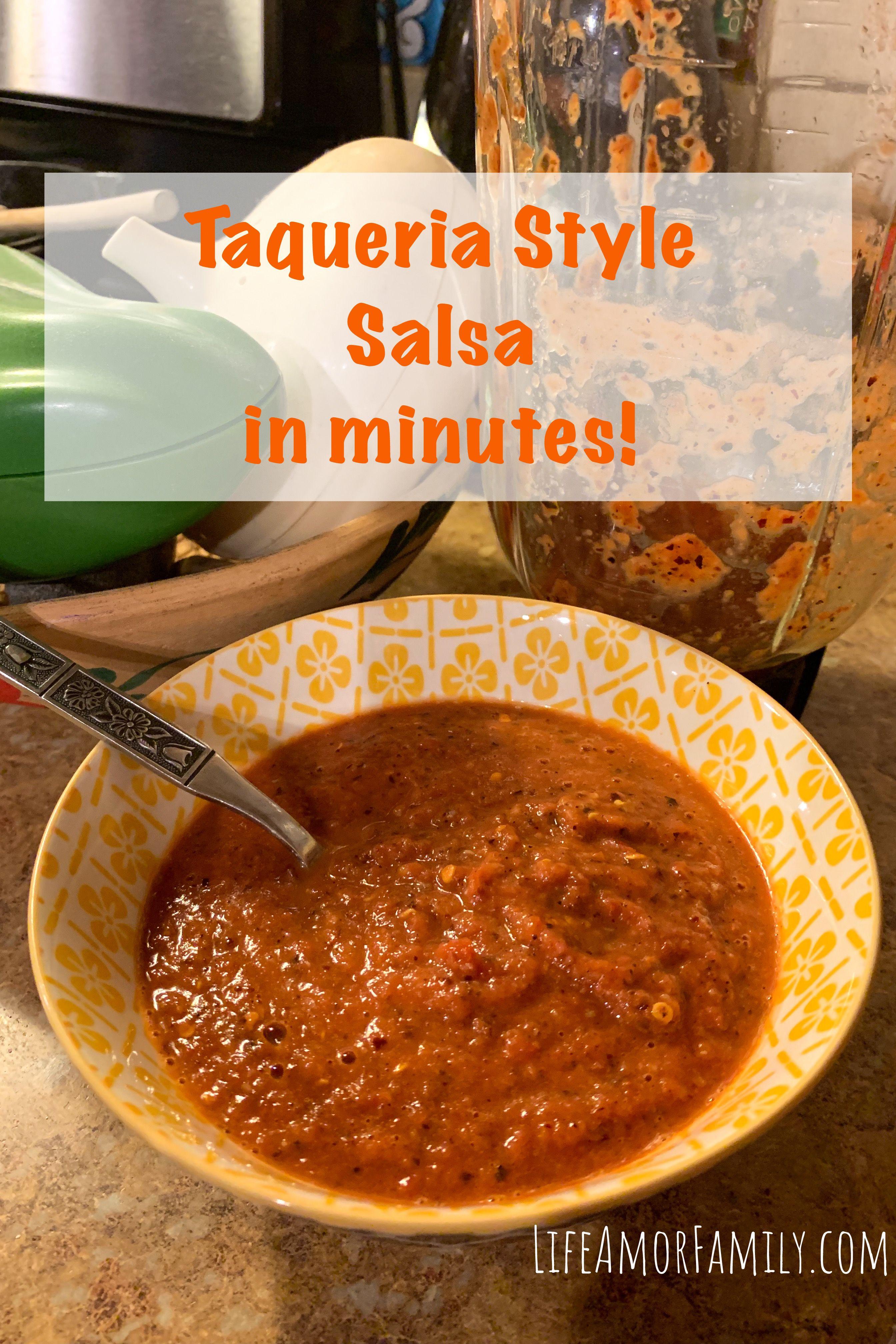 Authentic Taqueria Salsa in Minutes!  #authenticmexicansalsa