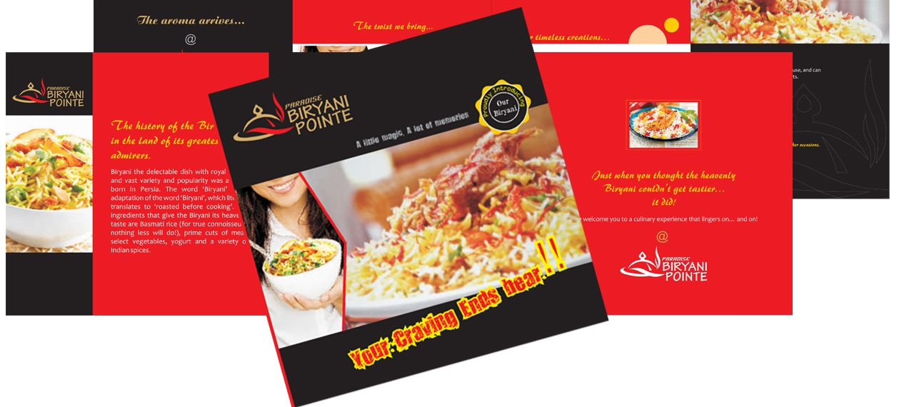 For Biryani restaurant Food Brochure Pinterest Brochures - food brochure