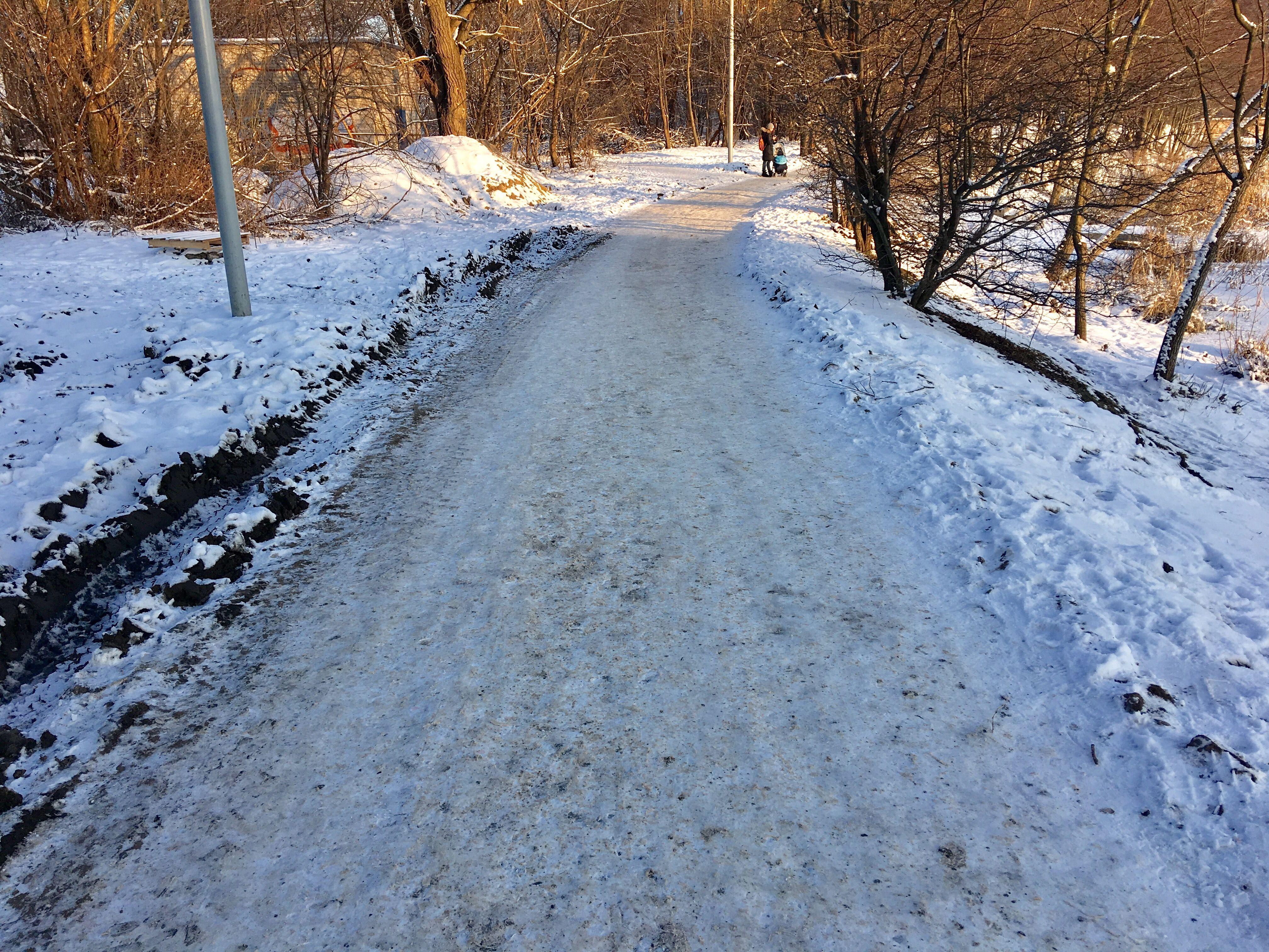 Спасибо морозам и снегу - пока здесь можно гулять