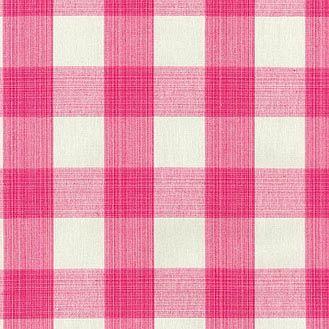 Waverly Stratford Check Blossom Hot Pink Ivory Decorating Fabric