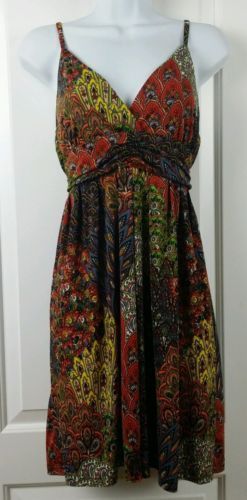 Neesha BoHo Peasant Dress Small Medium Beautiful Vintage looking 60/70's 34""