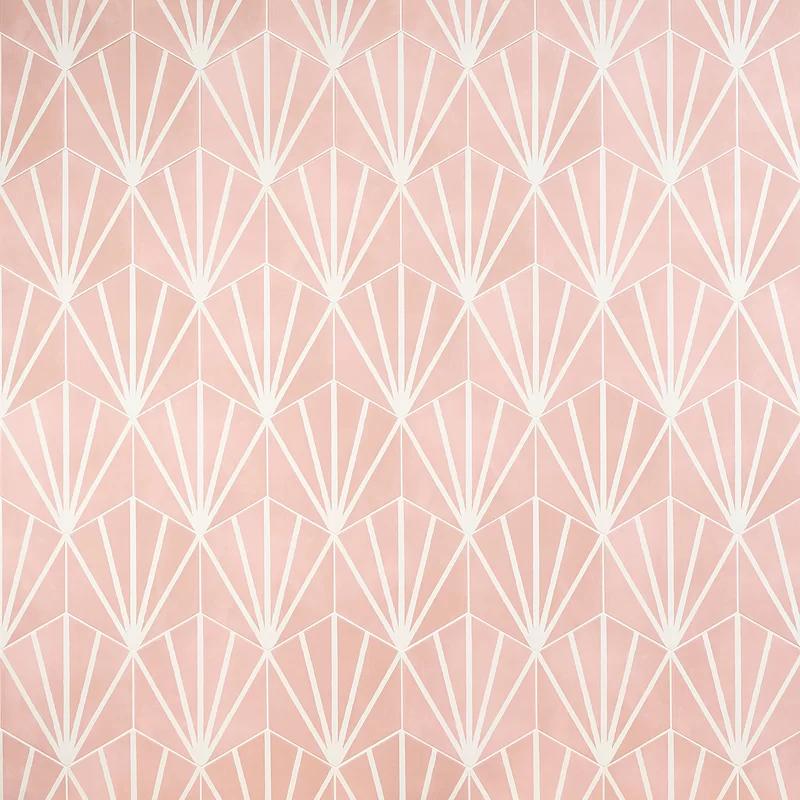 Eclipse Ray 8 X 8 Porcelain Field Tile In 2020 Matte Tile Art Deco Tiles Pink Tiles