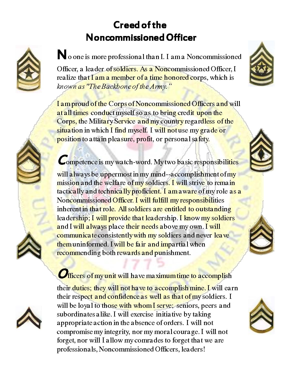 orders non commissioned officer and order I mef orders i mef orders i mefo 10005  i mef staff non-commissioned officer (non-sda) meritorious promotion nomination program  (contact g-1 for order) 10 .