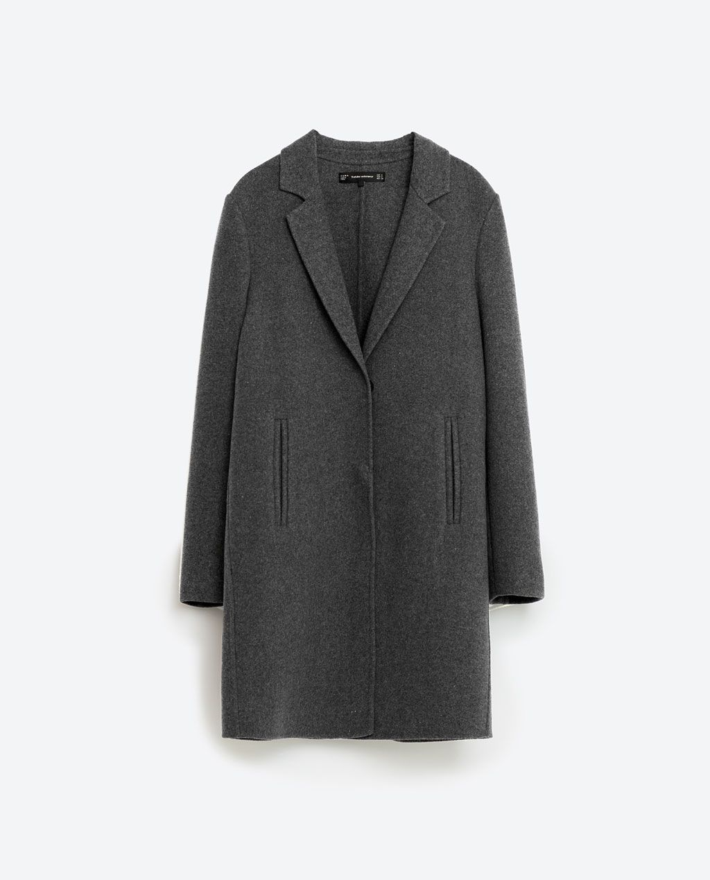 Zara handmade mantel schwarz