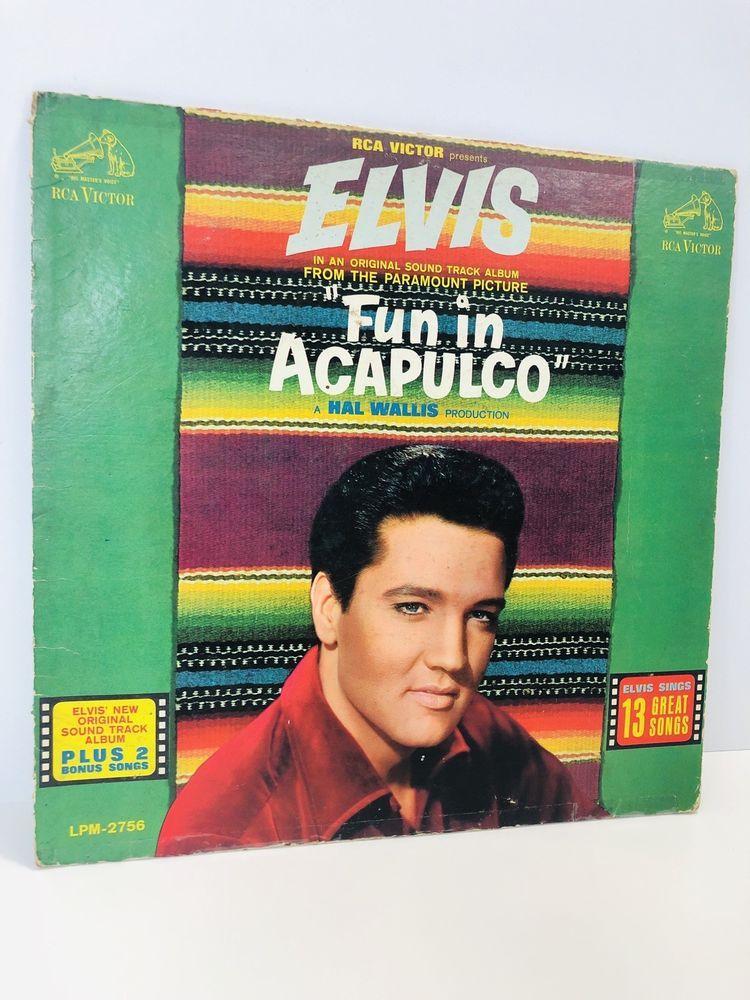 Elvis Presley Fun IN ACAPULCO Soundtrack LP Album - Vintage