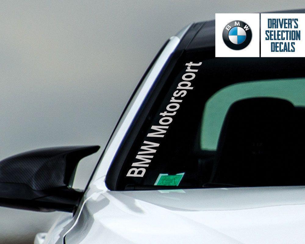 Bmw Motorsport Side Windshield Decal Windows Sticker Graphic