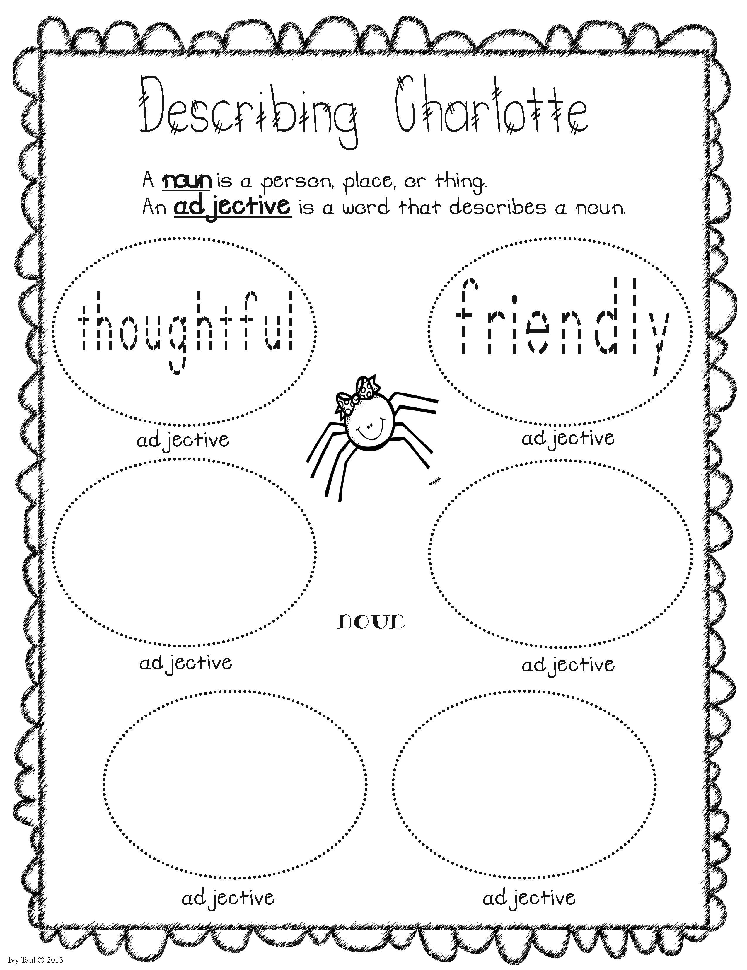 Charlotte S Web Cast Of Characters Booklet Charlottes Web Charlottes Web Activities Book Study [ 3311 x 2550 Pixel ]