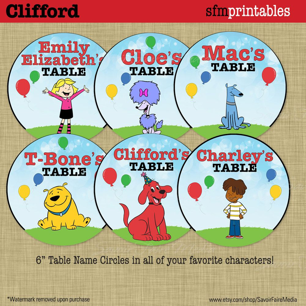 Clifford the Red Dog Ribbon for cake decorating or scrap booking