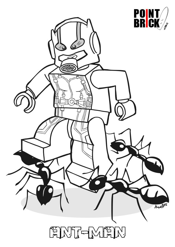 Disegni Da Colorare Lego Ant Man E Jasmine For The